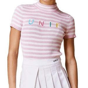 UNIF Pink Lenny Top